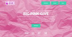 Loving the crinkled pink background on Susan G. Fundraising Page, Fundraising Websites, Donation Page, Under The Stars, Non Profit, Breast Cancer, Make It Simple, Pink, Pink Hair