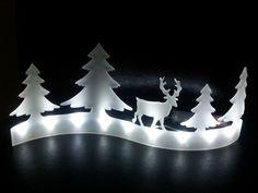 Lichterbogen / Lichtleiste / Leuchtsilhouette Rentier / Elch