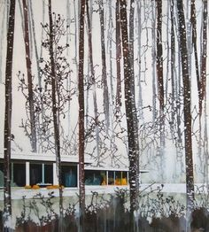 Modern Home, Red Aspens and Snow, Paul Davies, 2008