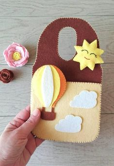 Your place to buy and sell all things handmade Felt Crafts Diy, Felt Diy, Arts And Crafts, Paper Crafts, Felt Phone Cases, Ballon, Air Balloon, Felt Mobile, Mobiles