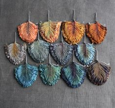 gorgeous hand-dyed silk creations that look like feathers