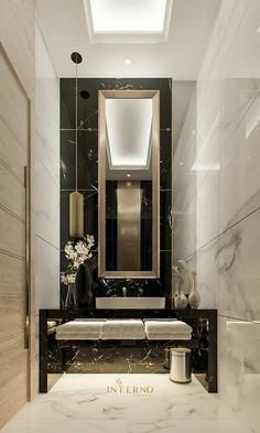 Discover the latest bathroom design trends for your amazing project, and create the bathroom of your dreams with these inspirational design ideas! Luxury Bathroom Vanities, Bathroom Design Luxury, Bathroom Mirrors, Bathroom Faucets, Bathroom Cabinets, Bath Design, Brick Bathroom, Oak Bathroom, Toilet Design