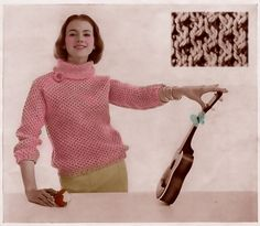 Ukuleles and knitting in one pin...