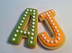 monogrammed cookies make great favors!