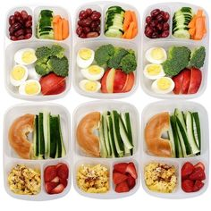 [6 Pack] Premium Eco Friendly 3-Compartment Bento Lunch Box Containers... ($18) ❤ liked on Polyvore featuring food
