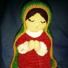 Virgen de guadalupe amigurumi