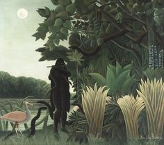 La charmeuse de serpents by Henri Rousseau from Musée d'Orsay, - The Snake Charmer (1907)