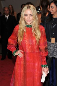 Mary-Kate Olsen | Not just for Christmas! Channel two superstars of fashion and wear red and green all year long.