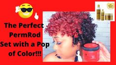 How to Create the Perfect PermRod Set with a Pop of Color| Ft. New AS I ... Cute Natural Hairstyles, Protective Hairstyles For Natural Hair, Black Women Hairstyles, Long Natural Hair, Natural Hair Styles For Black Women, Perm Rod Set, Temporary Hair Color, Natural Hair Tutorials, Color Pop