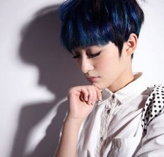 black and blue hair color ideas - Google Search