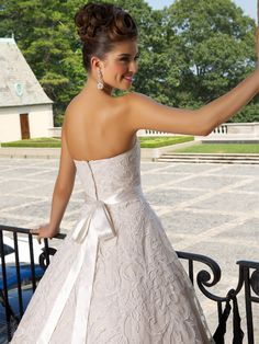 Pearl Bridal Gown   www.ForTheBrideMag.com Bridal Wedding Dresses, Bridal Style, Sash, Ivory White, Beige, Pearls, Pearl Bridal, Clothes, Collection