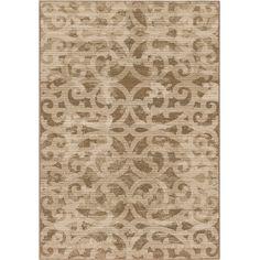 "Carolina Weavers Unique Scroll Hayter Beige Area Rug (7'10"" x 10'10"")"
