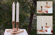 Kerzenständer  Kerzenhalter Kupfer von handmade-light-design auf DaWanda.com