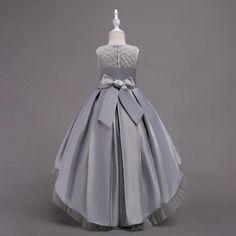 KoKoHouse Lace Lotus Leaf Frill Collar Floor Length Flower Girl Dress First Communion Ball Gown