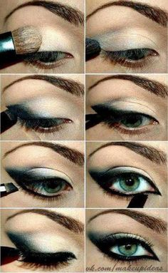 A cat winged eye liner make up look!