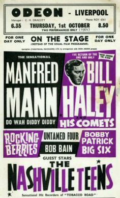 1964 Manfred Mann's Earth Band, Souped Up, Liverpool, Music Posters, Flyers, Day, Bands, Zipper, Gig Poster