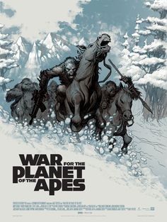 War for the Planet of the Apes by Eric Powell - Home of the Alternative Movie Poster -AMP- Poster Series, Movie Poster Art, New Poster, Halloween 2018, Pierre Boulle, Omg Posters, Cinema Posters, Movie Synopsis, Superhero Poster