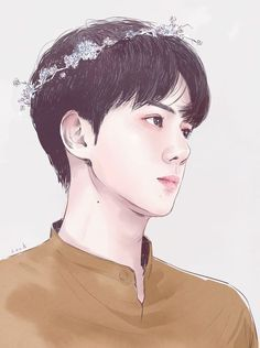 exo oh sehun fanart Kpop Exo, Chanyeol Baekhyun, Baekhyun Fanart, Exo Anime, Anime Guys, Anime Art, Character Illustration, Digital Illustration, Cover Wattpad