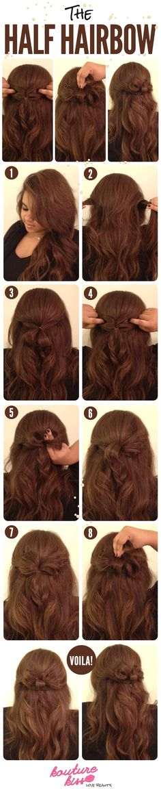 This hair bow is so cute! And easy.