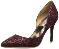 Badgley Mischka Women's Dixi Pump,Wine Glitter,5 M US Badgley Mischka,http://www.amazon.com/dp/B00CBL2HGQ/ref=cm_sw_r_pi_dp_Z1QEsb0CVVPRCVXD