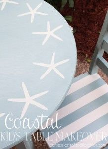 Coastal Inspired Kid's Table