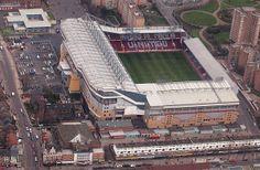 West Ham United / Boleyn ground / football stadium located in Upton Park Soccer Stadium, Football Stadiums, Basketball, Leicester City Fc, West Ham United Fc, Bristol Rovers, London Clubs, Make Way, Kingdom Of Great Britain