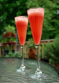 Watermelon Mimosa by laylita #Drinks #Watermelon_Mimosa #laylita