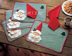 Merry Sweet Christmas Decoration Santa Checked Plaid Placemats Mat Pads Dinner Table Decoration Christmas Napkin is not included-in Mats & Pads from Home & Garden on Aliexpress.com   Alibaba Group