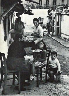 Old Athens. Yiayia always made sure you had enough to eat and that you did eat.even when you already told her a 100 times you weren't hungry … Greece Pictures, Old Pictures, Old Photos, Vintage Photos, Old Greek, Greek Art, Mykonos, Travel Around The World, Around The Worlds