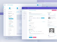 Sociamonials: Dashboard design work