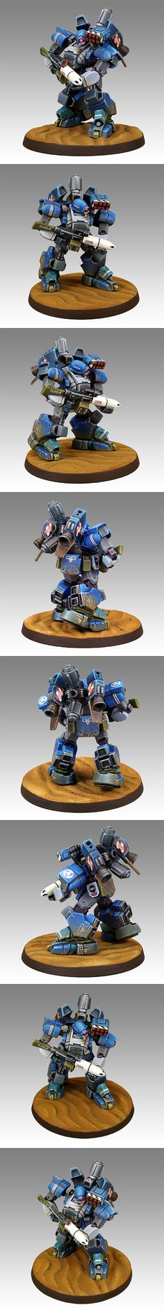 Nice Heavy Gear model - Chasseur Mark II Heavy Gear from Dream Pod 9, painted by Greg Perkins