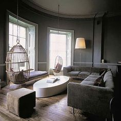 living room, gray, studio ilse, Ilse Crawford