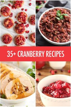 Over 35 Cranberry Recipe Ideas | Food Bloggers of Canada | FBC Member Food Blog Posts | Pinterest