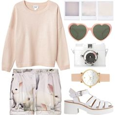 Untitled by hanaglatison on Polyvore featuring Monki, Moschino Cheap & Chic, Kate Spade and Pixie