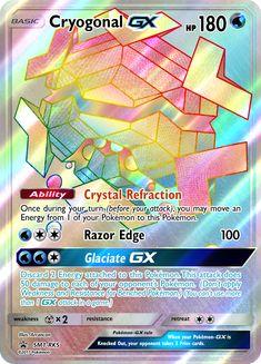 Cryogonal-GX (Hyper Rare) by Fake Pokemon Cards, Catch Em All, Birthday List, Your Turn, Social Community, Videogames, Deviantart, Image, Letters