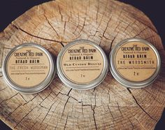 Beard Balm Gift Set ~ All Natural Men's grooming kit for moisturizing and conditioning, mustache wax pomade, unique Valentine's Gift for him by TheCreativeRedBarn on Etsy