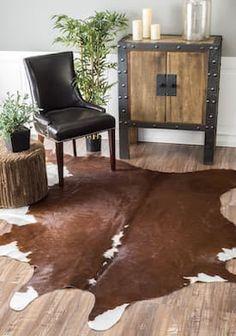 Rugs USA Brown Homegrown Cowhide rug - Animal Prints Shaped 5' x 7'