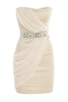 Simple and elegant. Can be used for rehearsal dinners, reception or getaway dress, or for those brides that want something other than the normal gown.