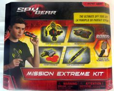 Spy Gear Mission Extreme Kit Ultimate Spy Tool Kit Secret Agent 6+ NEW #SpinMaster