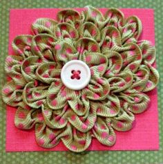 Tutorial for Ruched Ribbon Flower--so pretty as a pin/brooch, bow replacement for gifts, etc.