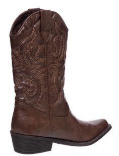 MADDEN GIRL SLINGER COWBOY BOOTS - BROWN - SIZE 9.5 #MaddenGirl #CowboyWestern