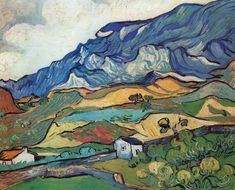 Les Alpilles, Mountain Landscape   - Vincent van Gogh - 1889 - Place of Creation: Saint-Rémy, Provence.