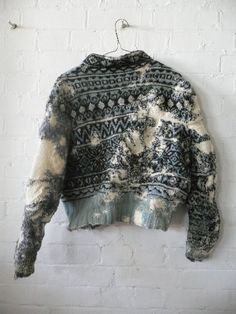 Knitting, darning & textiles by artist Celia Pym Textiles, Visible Mending, Pullover, Darning, Mode Inspiration, Knitwear, Knit Crochet, Style Me, Creations