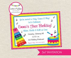 DIY Music Birthday Party INVITATION ONLY