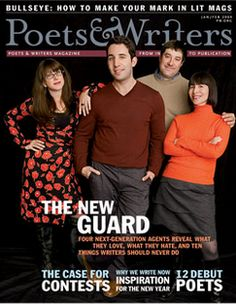 Poets & Writers, Inc., is the primary source of information, support, and guidance for creative writers. Founded in 1970, it is the nation's largest nonprofit literary organization serving poets, fiction writers, and creative nonfiction writers.  http://www.pw.org/magazine