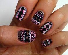 #Tribal #Nail #Art