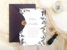 Wedding Invitation // Flowers // wild flowers // hand drawn // personalised // bespoke // botanical Star Wedding, Wedding Menu, Botanical Wedding Invitations, Wedding Stationery, Laura May, Flower Invitation, Save The Date Invitations, Menu Cards, Design Process