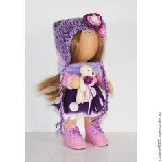 Купить Интерьерная кукла - фиолетовый, интерьерная кукла, интерьерная игрушка, интерьер, тыквоголовка, тильда