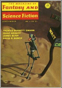 The Magazine of Fantasy and Science Fiction September 1970 Vol. 39, No. 3 (Whole No. 232) Cover Art - Mel Hunter