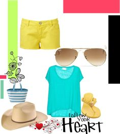 """la playa en amarillo"" by ninacorrales on Polyvore"